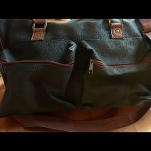 Two Hunter Green Travel Bags
